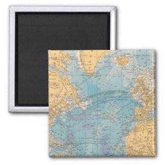 Atlantic Ocean Map Magnet