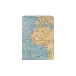 Atlantic Ocean Map Passport Holder