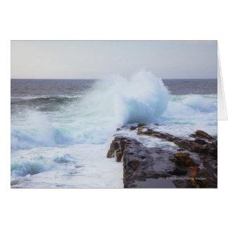 Atlantic Ocean Wave Crashing into Maine's Coast Card