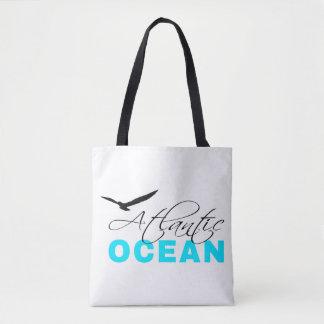 Atlantic Ocean White Customizable Tote Bag