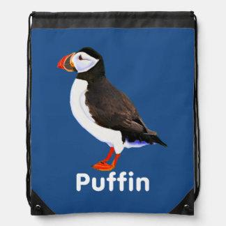 Atlantic Puffin Drawstring Backpacks