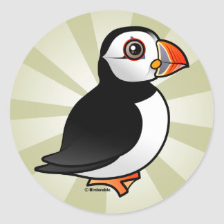 Atlantic Puffin Classic Round Sticker