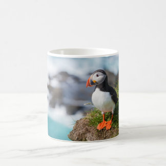 Atlantic Puffin Fratercula Arctica Basic White Mug
