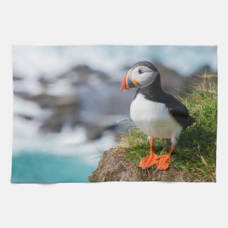 Atlantic Puffin Fratercula Arctica Tea Towel