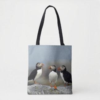Atlantic Puffin Group Tote Bag