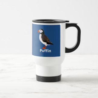 Atlantic Puffin 15 Oz Stainless Steel Travel Mug