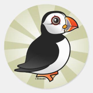 Atlantic Puffin Round Sticker