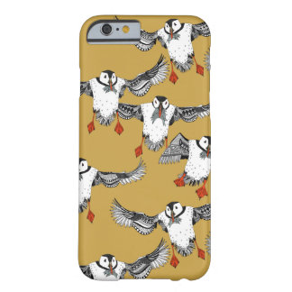Atlantic Puffins gold Barely There iPhone 6 Case