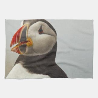 Atlantic Puffins on Machias Seal Island off Tea Towel