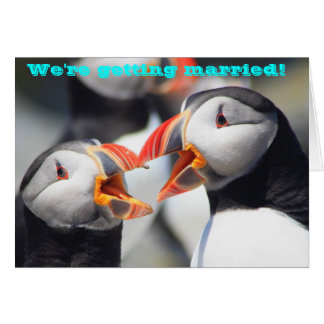 Atlantic Puffins We're Getting Married Card