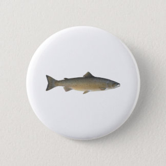 Atlantic Salmon 6 Cm Round Badge