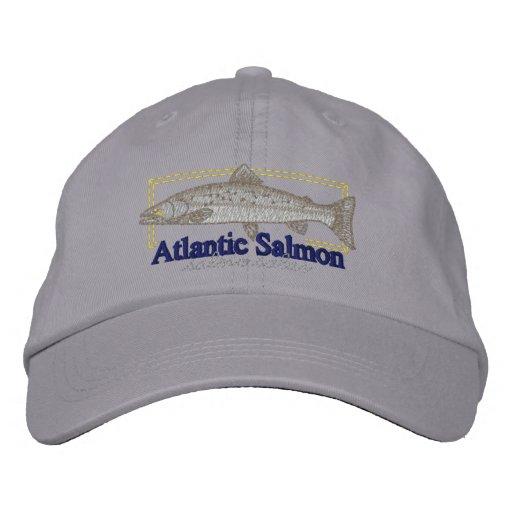 Atlantic Salmon Embroidered Baseball Caps