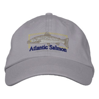 Atlantic Salmon Embroidered Hat