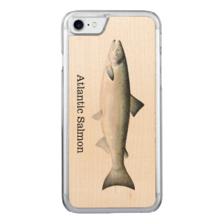 Atlantic Salmon Fish Carved iPhone 7 Case