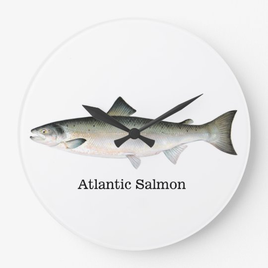 Flying bats large clock for Atlantic fish co
