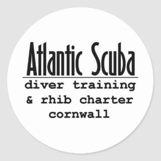 Atlantic Scuba designer gear Classic Round Sticker