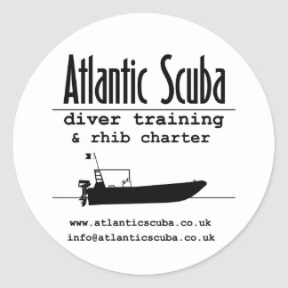 Atlantic Scuba designer gear Classic Round Sticker