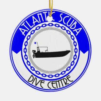 Atlantic Scuba Products Round Ceramic Decoration