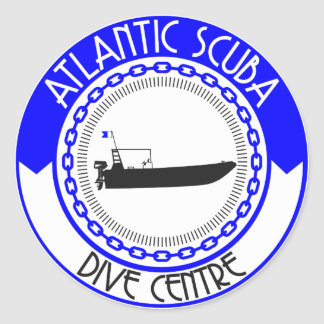 Atlantic Scuba Products Round Sticker