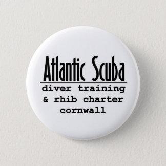 Atlantic Scuba Round Button Badge