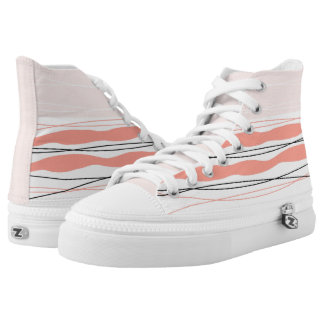 Atlantic Stripe Pink hi top shoe
