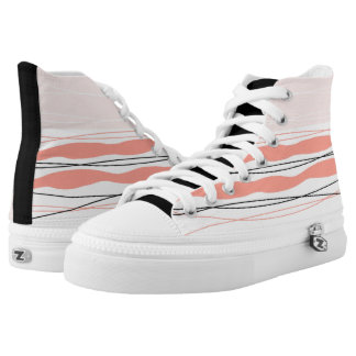 Atlantic Stripe Pink hi top shoe black