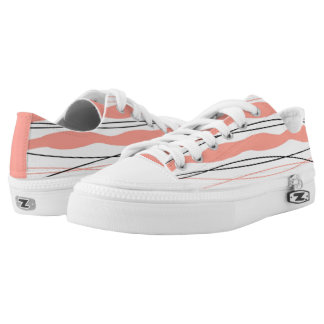 Atlantic Stripe Pink low top shoe coral