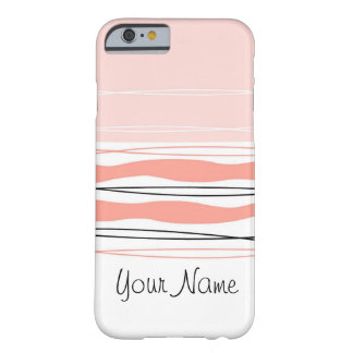 Atlantic Stripe Pink Name horizontal iPhone 6 case