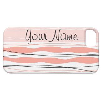 Atlantic Stripe Pink Name Vertical iPhone 5 case