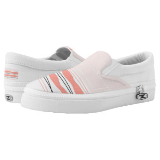 Atlantic Stripe Pink slip on shoe