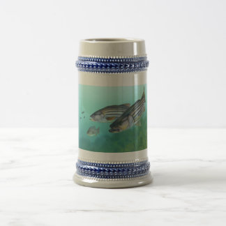 Atlantic Striped Bass Fish Morone Saxatilis Beer Stein