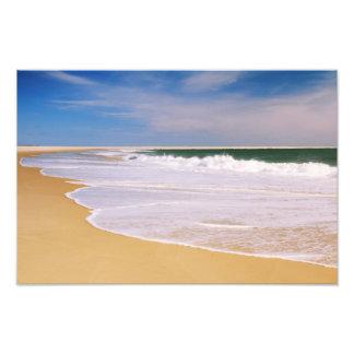 Atlantic Surf on a Deserted Island Beach Photographic Print