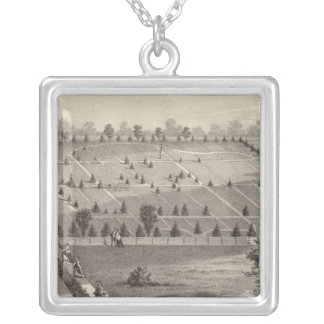 Atlantic View Cemetery, Squan Village, NJ Silver Plated Necklace