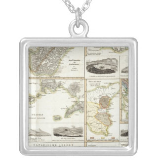 Atlantic Volcanic Activity Silver Plated Necklace