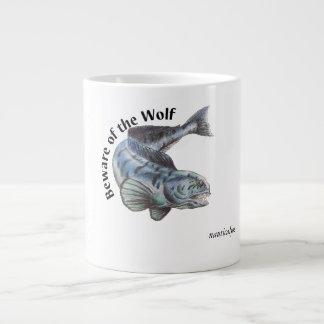 atlantic wolffish drawing large coffee mug