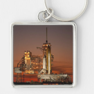 Atlantis awaiting the mission into space Silver-Colored square key ring