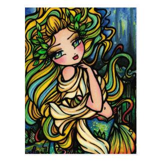 Atlantis City Mermaid Fantasy Art Girl Postcard