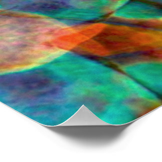 Atlantis Inspired Rainbow Mandala Poster