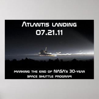 Atlantis landing 07.21.11 poster