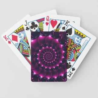 Atlantis seashell (purple) bicycle playing cards
