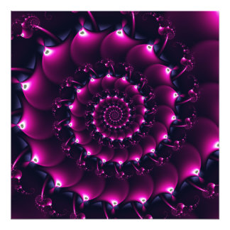 Atlantis seashell (purple) photographic print