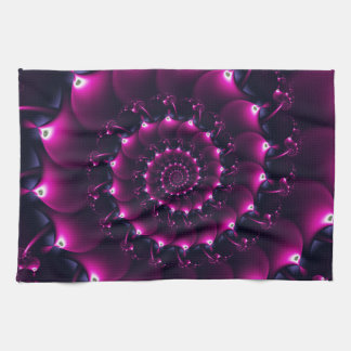 Atlantis seashell (purple) tea towel