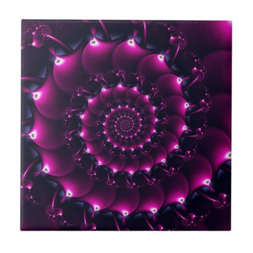 Atlantis seashell (purple) ceramic tile