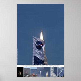 Atlantis Shuttle Launch Poster