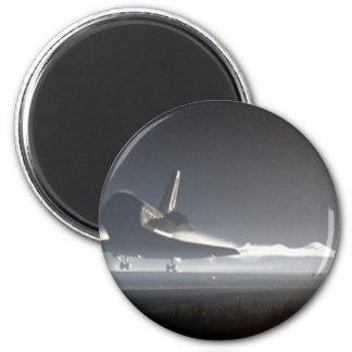 Atlantis Space Shuttle) 6 Cm Round Magnet