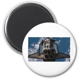 Atlantis Space Shuttle 6 Cm Round Magnet