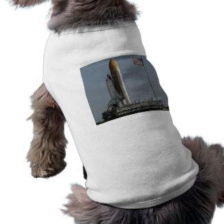 Atlantis Space Shuttle Dog T-shirt