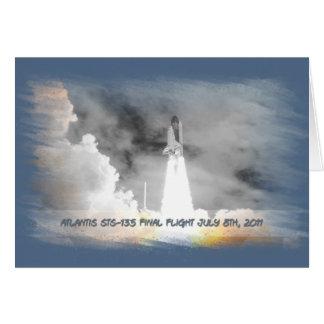 Atlantis Space Shuttle STS-135 Last Flight Stationery Note Card