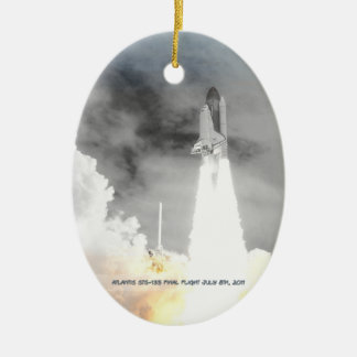 Atlantis Space Shuttle STS-135 Last Flight Christmas Ornament