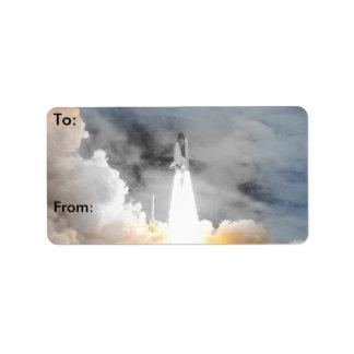 Atlantis Space Shuttle STS-135 Last Flight Address Label